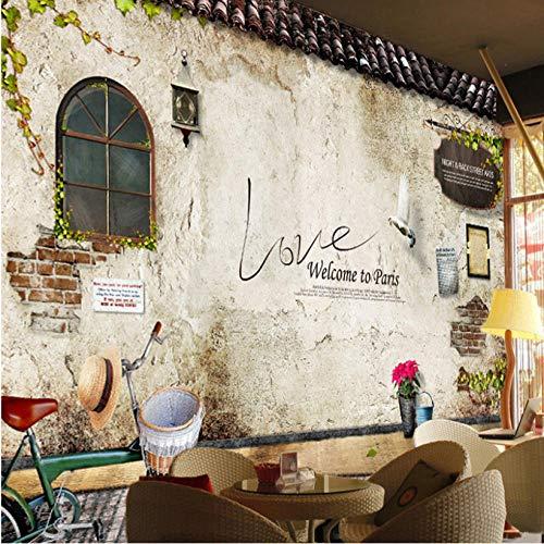 Fotobehang Fotobehang Thuis Aangepaste Fotobehang Muren Klassieke Oude Straat Muur Foto Parijs Keuken Cafe Restaurant Achtergrond Muur Papel De Parede 3D