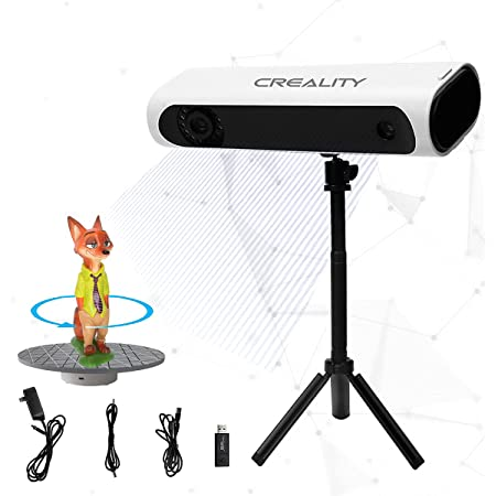 Creality Upgraded CR-Scan 01 3D Scanner, Handheld/Auto scan Mode, No Marker Quick Scanning, 0.1mm Accuracy, 0.3-2m Scanning Range, 0.2mm Resolution, Professional Color 3D-Scanner for 3D Printer