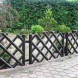 3,5 m de largo plástico jardín valla, 4 colores, marrón