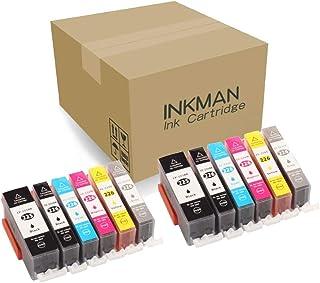 INKMAN Compatible Ink Cartridges Replacement for Canon PGI-225 CLI-226 to use with PIXMA MX882 MX892 MG5320 MG5220 iX6520 Inkjet Printer,PGBK/Black/Cyan/Magenta/Yellow/Grey Combo Packs
