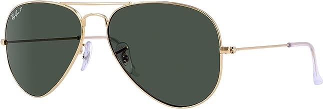 Ray-Ban RB3025 Aviator Sunglasses (58 mm, Gold Metal Frame/Polarized Green G-15 Lens)