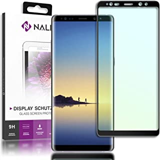 NALIA Cristal Templado Compatible con Samsung Galaxy Note 8, Vidrio Blindado Película Protectora Display Cobertura, 9H Protector de Pantalla Telefono Celular Tempered-Glass, Color:Negro