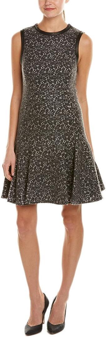 Rebecca Taylor Women's Sleeveless Lace Bonded Dress