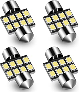 Audak Festoon LED Bulb 30MM 2835 8SMD Canbus Error Free for Interior Dome Map Lights Door Courtesy Lights Trunk Lights License Plate Lights (Pack of 4)