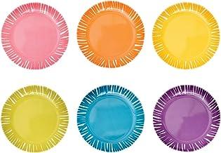 """French Bull 6"""" Appetizer Plate Set of 6 - Melamine Dinnerware - Platter, Dish, Serving, Collection - Fringe"""