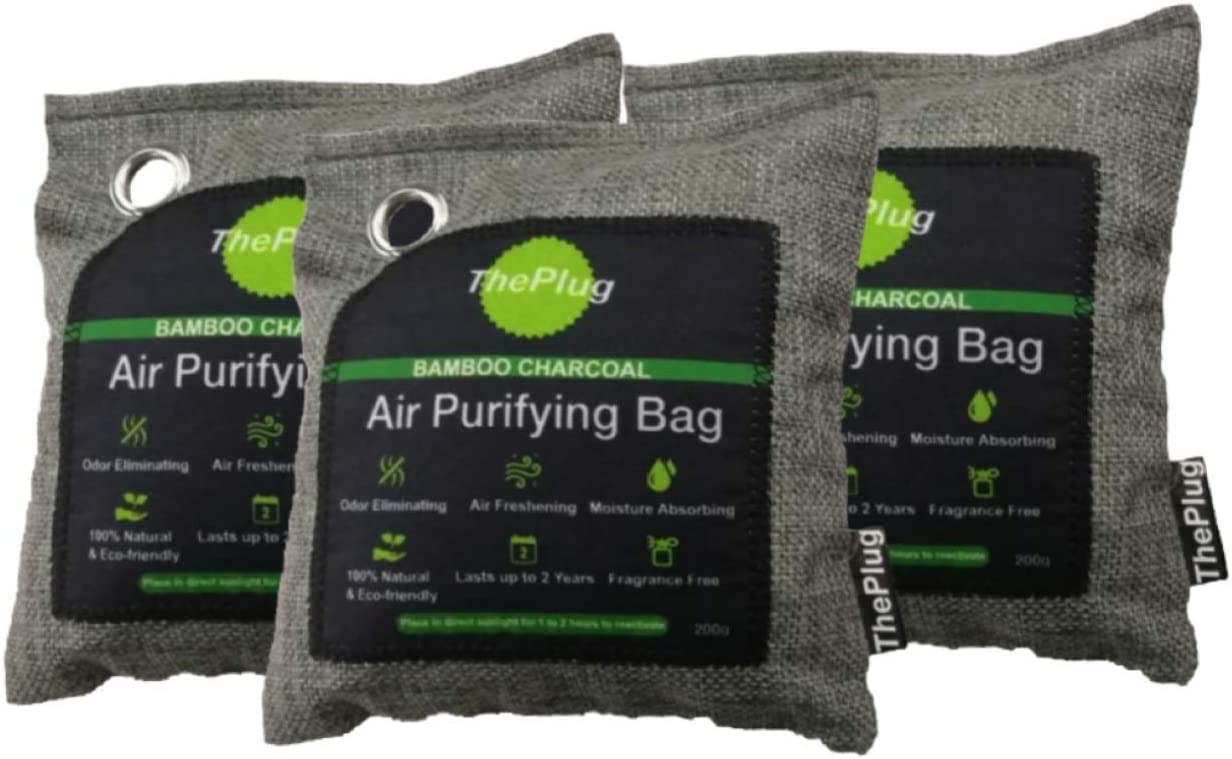ThePlug: Bamboo Charcoal Surprise price Air Purifying Bags Cheap sale 3x200g