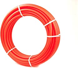 3/4 Inch PEX Tubing - 300 Feet - Red Flexible Piping - Non-Barrier Coating - Designed for Residential and Commercial
