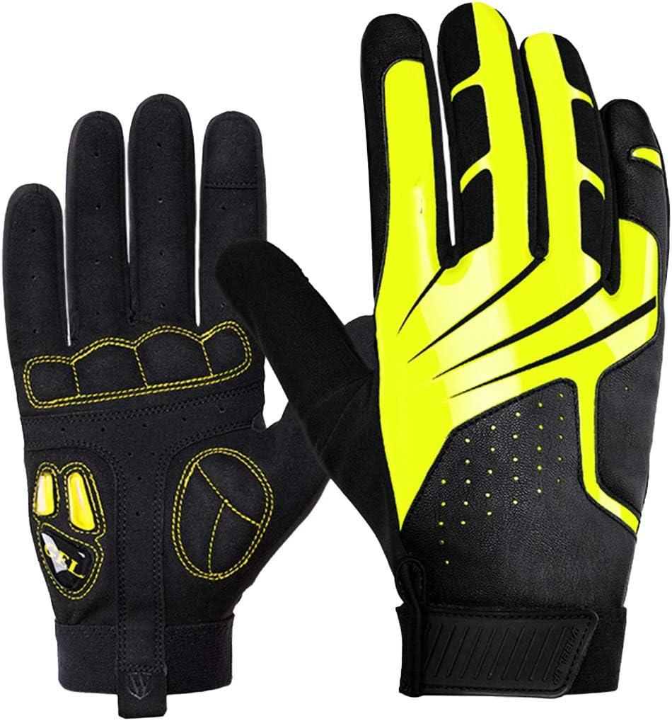 DEALPEAK Cycling Gloves Winter Warm Windproof Waterproof Anti-Slip Full Finger Touch Screen Gloves for Men Women