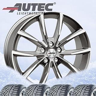 4 complete winterwielen Astana 8x19 ET 45 5x112 titanium zilver gepolijst met 235/40 R19 96V Hankook Winter i*cept evo3 W3...