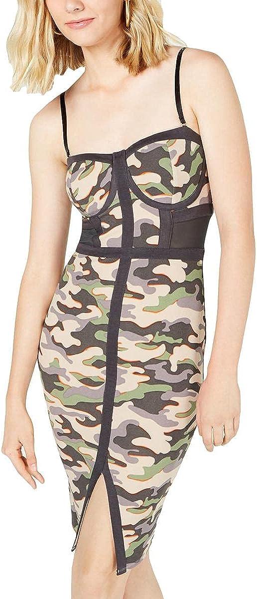 Material Girl Womens Juniors Illusion Bodycon Dress