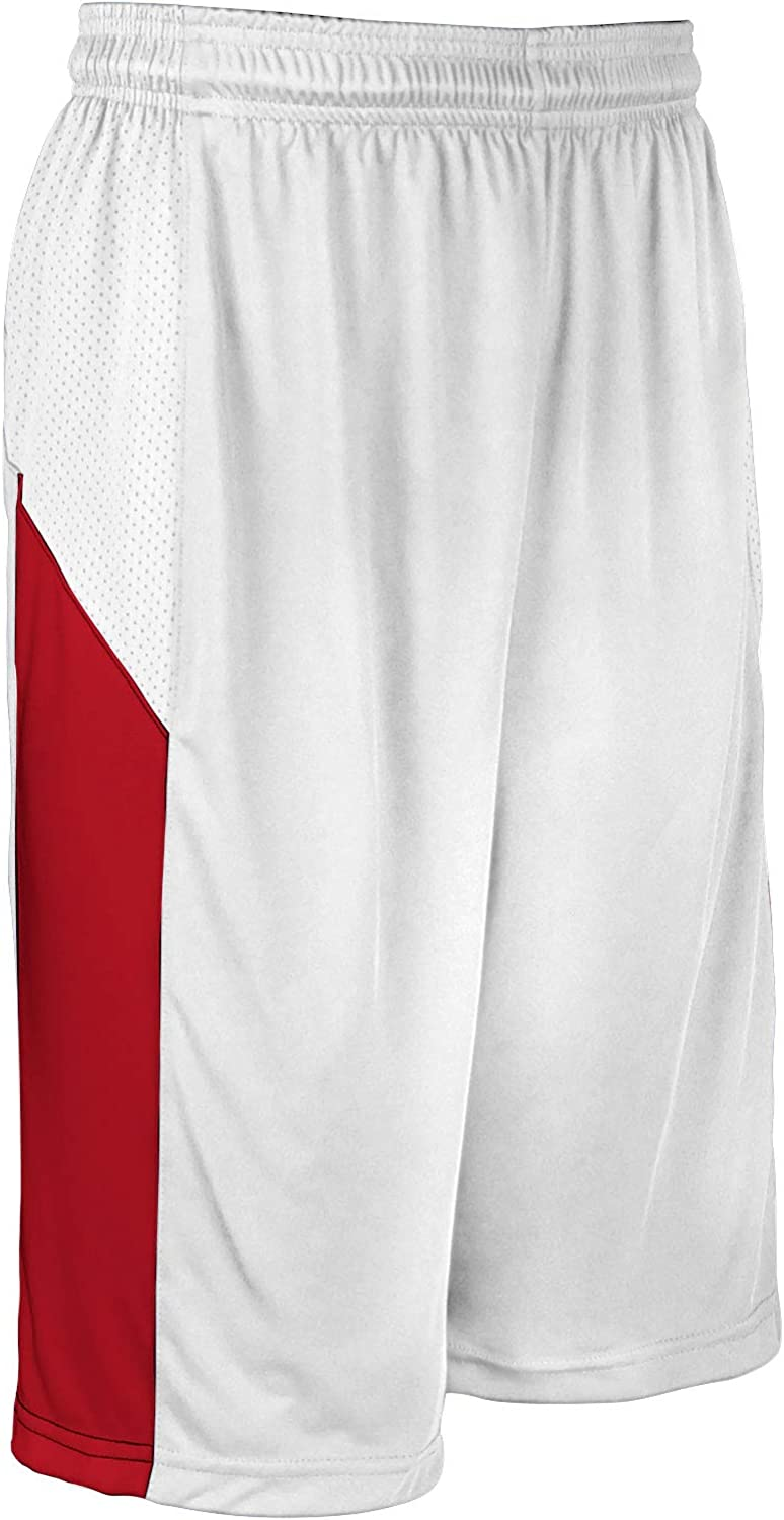 CHAMPRO Charge Polyester Basketball Weekly update Adult Recommended White Short X-Large