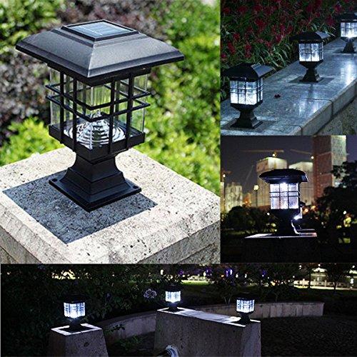Jiguoor Palace Lanterne LED solaire extérieur Jardin cour Paysage lumière Capteur de lumière pour décoration de jardin Allée Lampes