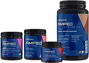 Isagenix NEW AMPED Next-Level Pack - Tri Release Protein (28 servings), Nitro (20 servings), Repair (20 servings), BCAA Plus (20 servings)