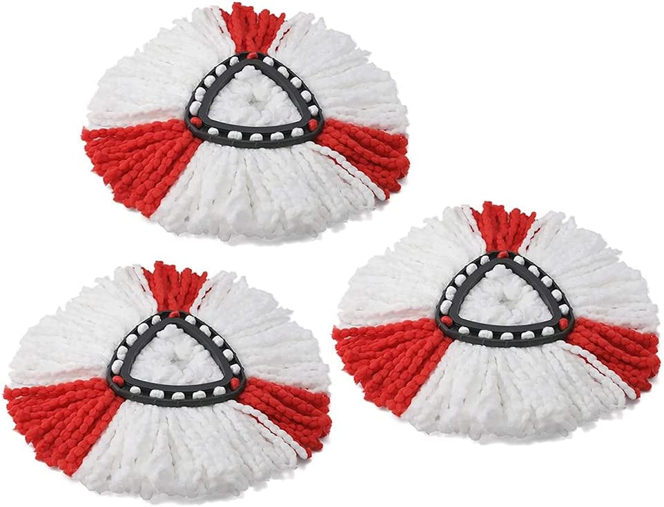 3pcs Limited Special Price Set Outlet SALE Mop Head Fibre Floor Cloth Home Mopping Cleaning Pa