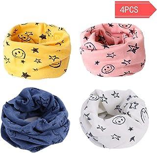 Bufanda de los niños, Bufanda de algodón de Invierno Calentador de Cuello Pañuelos para bebés, niños y niñas, 0-3 años de Edad