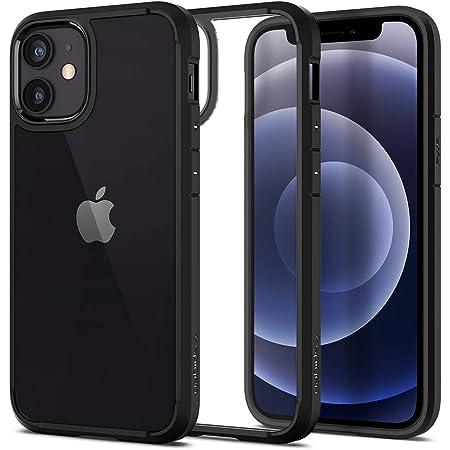 Spigen iPhone12 Mini 用 ケース 5.4インチ MagSafe 対応 背面クリア TPUバンパーケース 米軍MIL規格取得 耐衝撃 すり傷防止 ワイヤレス充電対応 アイフォン12ミニケース ウルトラ・ハイブリッド ACS01746 (マット・ブラック)