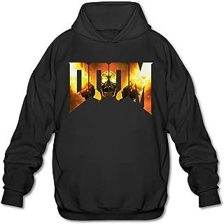 JOYSLI Men's Doom Logo 2016 Video Game Hoodie Black