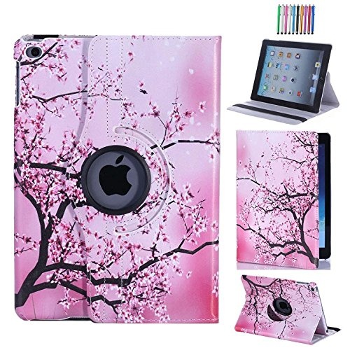CULIKER - iPad Air Case 360 Rotating Colorful Design PU Leather Smart Stand Case Cover for Apple iPad Air 1st generation with Wake and Sleep Function