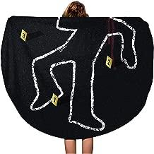 crime scene dead body beach towel