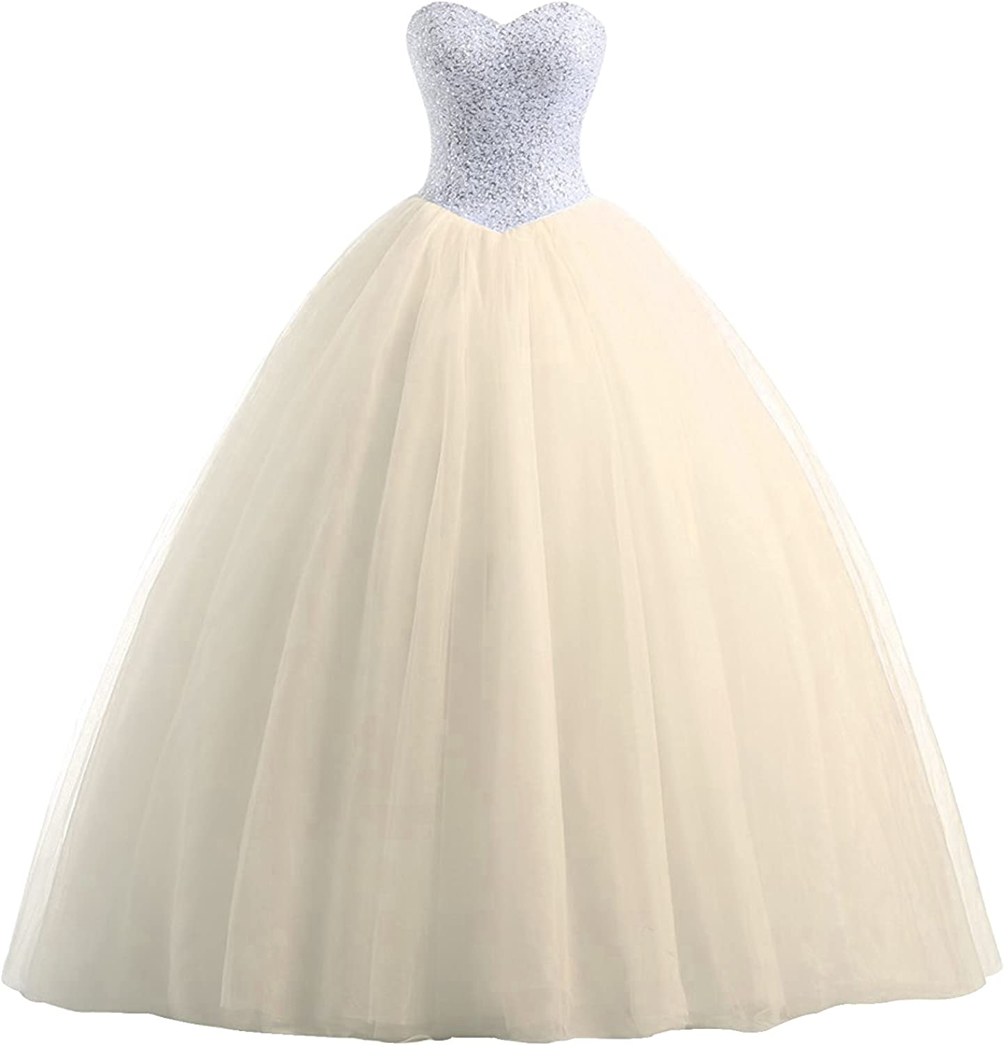 Epinkbridal Sweetheart Quinceanera Dress with Beaded Bodice Princess Ball Gown Sweet 16 Dresses