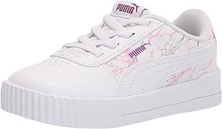 PUMA Girls Carina Slip On Sneaker, White White