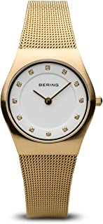 BERING Time 11927-334 Womens Classic Collection Watch with Mesh Band and Scratch Resistant Sapphire Crystal. Designed in Denmark.