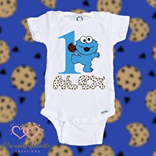 Personalized Customized Cookie Monster birthday shirt | Cookie Monster 1st birthday shirt | Cookie Monster first birthday shirt | Boy Girl birthday shirt | Boy Girl birthday bodysuit/onesie