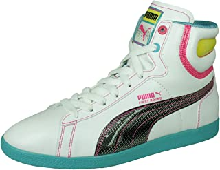 PUMA First Round Flipper Cray Womens Leather Trainers/Hi Tops