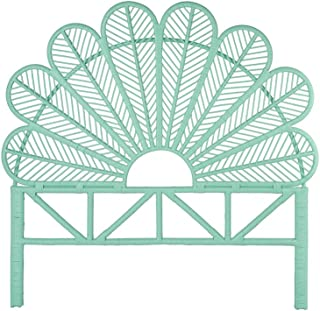 KOUBOO Rattan Petal Headboard, Queen, Mint