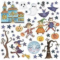 ハロウィン ハロウィーン☆式ウォールステッカー halloween かぼちゃ おばけ ランタン おしゃれ 大人 trick or treat お菓子 30×30cm かぼちゃ 秋 くも 016982