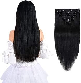 20 inch black human hair extensions