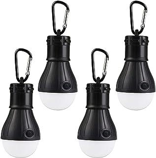 Momiji ランタン キャンプライト LED 電球型ライト アウトドア 吊りライト キャンプ 防災 釣り用 電池式 携帯 ポータブル 懐中電灯 釣り提灯 防水 ストラップ