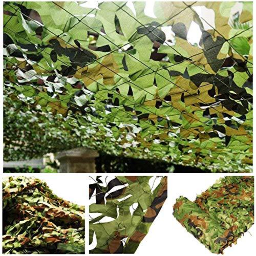 JYAJ Camouflage Net 4mx3m, 2m 5m 7m 12m Woodland Camouflage Mesh Reinforce Green Military for Masking Tent Car Garden Decoration,