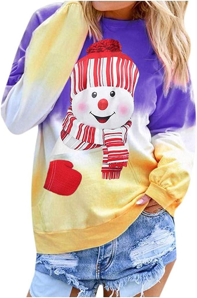✶ HebeTop Women's Ranking TOP16 Sweatshirts Printed Gradient Long Ranking TOP4