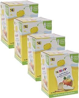 HiPP 苹果梨子和婴儿面包干,4件装(4 x 90 克)