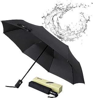Glamore Travel Umbrella, Compact Travel Umbrella Windproof Travel Umbrella Folding Umbrella Sports Golf Umbrellas Auto Open/Close Umbrellas