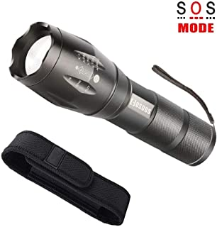 LED Flashlight with Holster, COSOOS Tactical Flashlight and Holder for Belt,1000 Lumen,Zoomable 5-Mode Portable Waterproof Bright Flash Light for Camping,Ready for Hurricane (No AAA Battery)