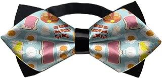 YINLAN Fashion Elegant Pre-Tied Men's Bow Tie Tuxedo Adjustable Bowtie for Wedding Party (Funny Breakfast Food)