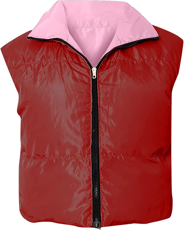 Women's Fashion Jacket Coat Zippers Slim Zipper Dual-Purpose Bomber Warm Coat Tops Vest