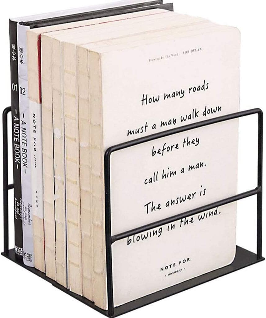 Bookshelf Simplicity Metal Bookends Matte Ends 55% OFF Black Ranking TOP4 Book Of for