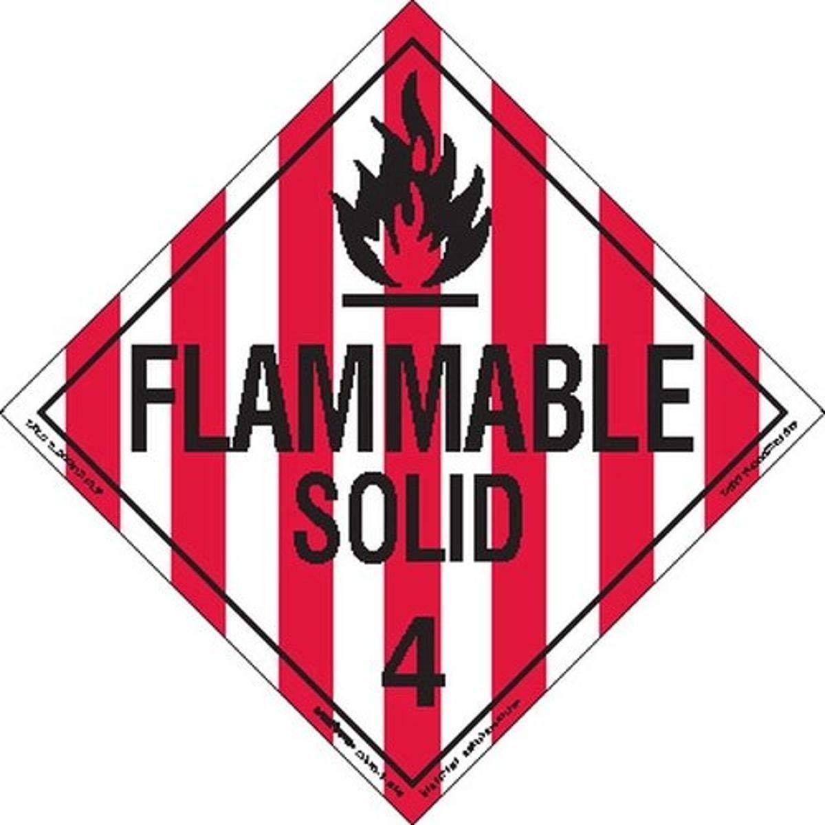 Labelmaster Z-EZ13 Flammable Solid Hazmat Worded Placard security E-Z Max 79% OFF R