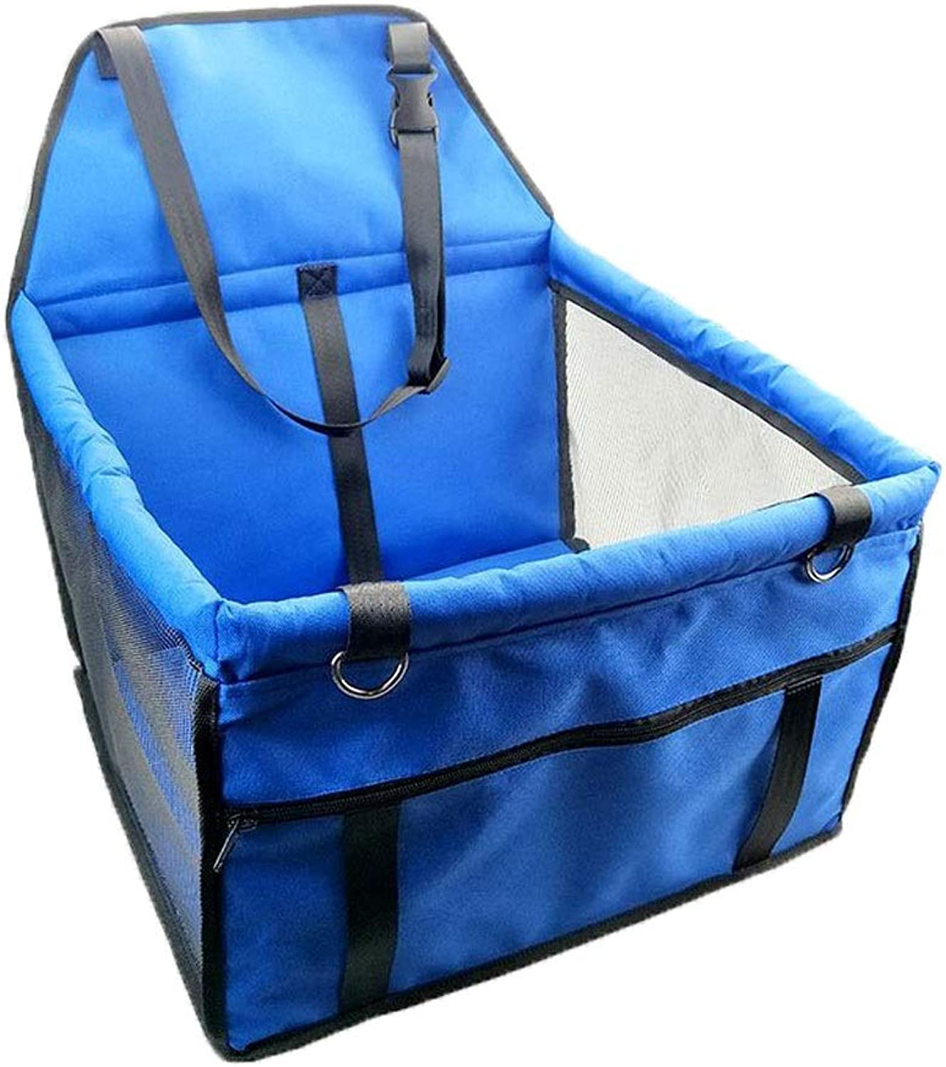 Pet Dog car Booster seat Portable Collapsible pet car car Travel Accessories Dog cat Waterproof NonSlip Bag (color   bluee)