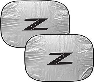 iPick Image for - Nissan 350Z Z Logo Dual Panels Easy Folding Windshield Sun Shade (Universal Fit)