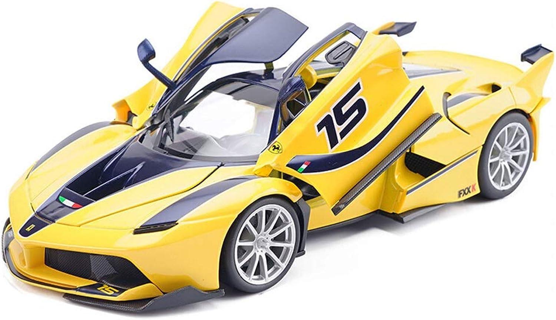 ventas en línea de venta RFJJAL Modelo de Auto, Juguetes de Auto para para para Niños para Niños niñas 1 18 Escala Ferrari Fxxk aleación Modelo de Coche Die Cast Miniatura Regalos en Interiores Juegos al Aire Libre (Color   amarillo)