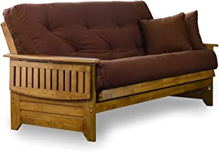 Nirvana Futons Brentwood Tray Arm Futon Sofabed Set - Queen Frame, 8