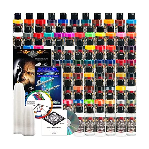 Createx-66-Wicked-Colors-2oz-Complete-Colors-Airbrush-Paint-Set