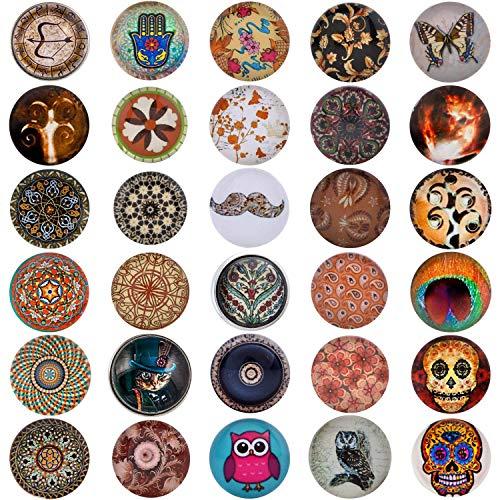 Morella 30 Click-Button Set Knöpfe 18 mm für Halskette Armband und Ring braun Mix