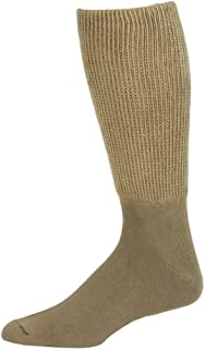Extra Wide Mens Tan Athletic Crew Socks 1 Pair - Size 16-21