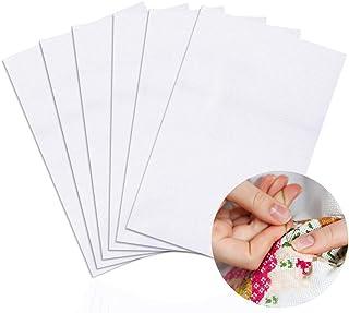 6 Pieces Classic Reserve Aida Cloth Cross Stitch Cloth, DaKuan 11 Count Cross Stitch Fabric, White, 12 by 18-Inch