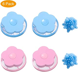 Pet Fur Remover Hair Catcher Pouch Flower Floating lint mesh Bag Reusable Washing Machine Filter net lint Trap with Laundr...
